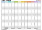 Main thumb blank calendar