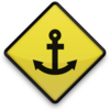 For post 041664 yellow road sign icon transport travel anchor6 sc48